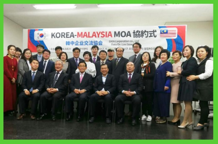 DXN Malaysia and Korea Sino signed Memorandum of Agreement to work hand-in-hand in beauty and cosmetics industry