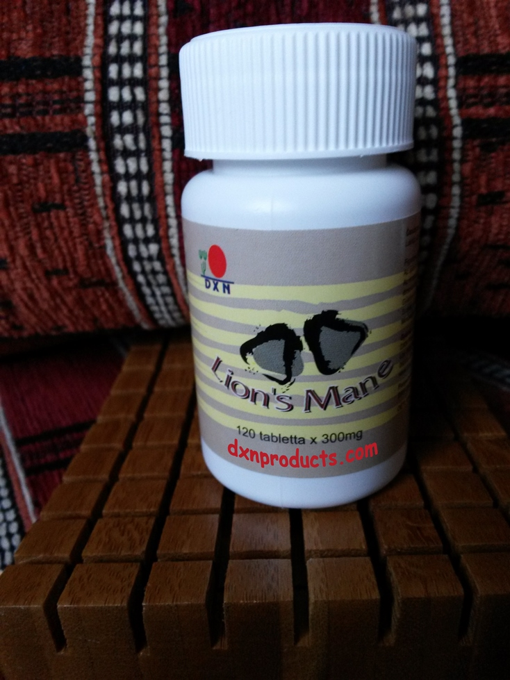 I take DXN Lion's Mane medicinal mushroom tablets daily to relieve stress and boost my brain functions.