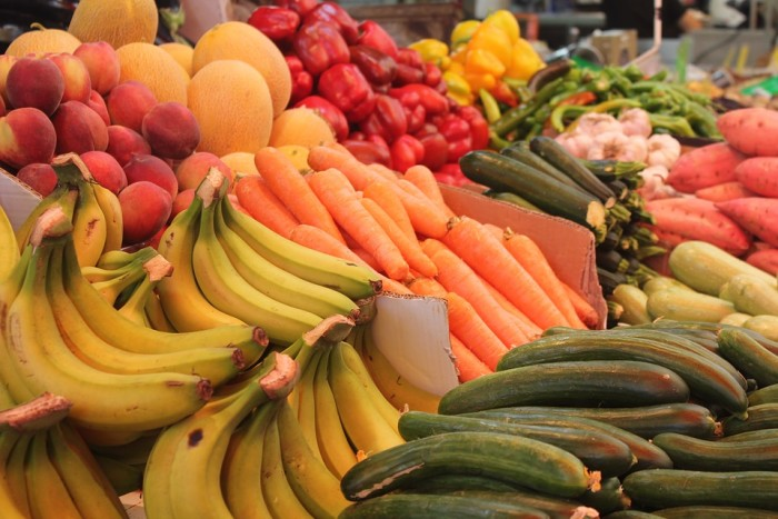 Fruits, like bananas, are rich in natural carbohydrates