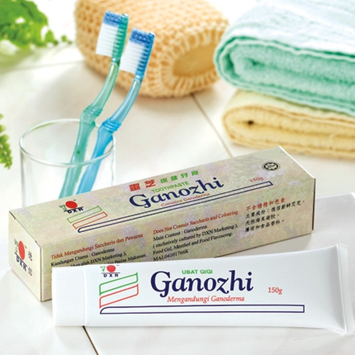 Ganoderma toothpaste rebalances mouth PH by reducing saliva-acidity.