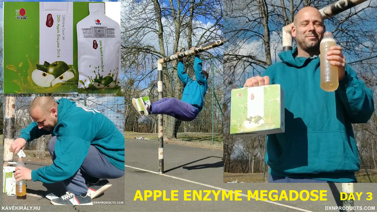 Street workout and DXN Apple Enzyme Drink mixing