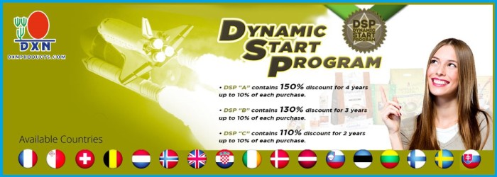 DXN Dynamic Start Program qit more than 100% discount up to 10% of future purchases