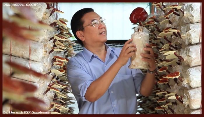 Dr. Lim with DXN Ganoderma