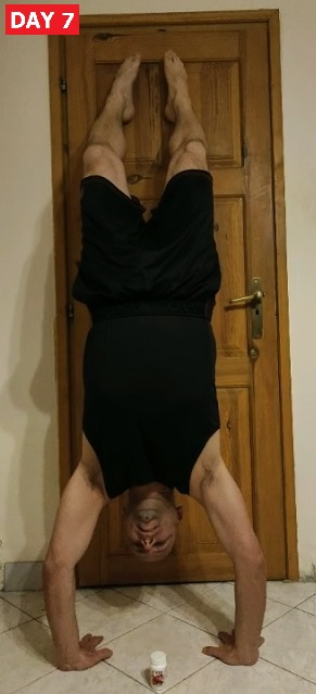 Handstand and DXN Reishi Megadose