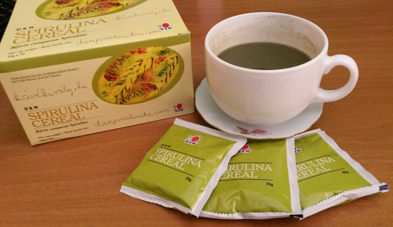 DXN Spirulina Cereal alkalizes the body and helps in weigh control