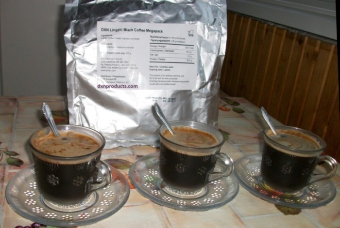 DXN Ganoderma Black Coffee in Megapack version for home usage