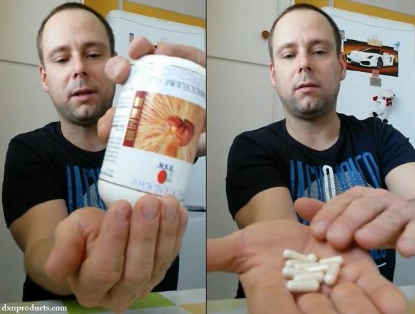 DXN Ganoderma Mycelium extract in capsule form.