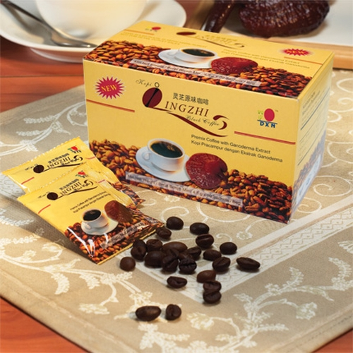 Black coffee with Ganoderma: DXN alkaline healthy coffee