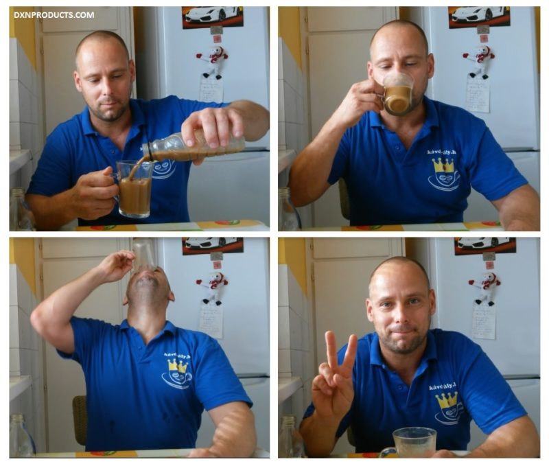How to prepare Gano coffee with cold water, steps 5 to 8