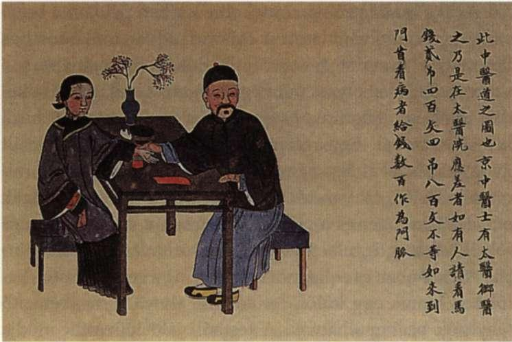 Practitioners of Traditional Chinese Medicine from the book of Liao Yuqun