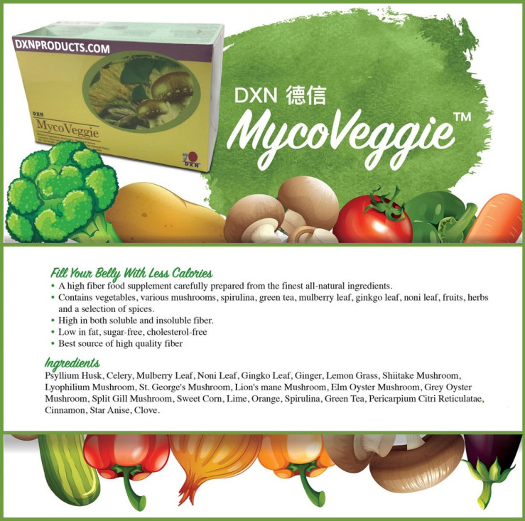 DXN MycoVeggie offers a painless solution for cleansing and detoxifying the colon.